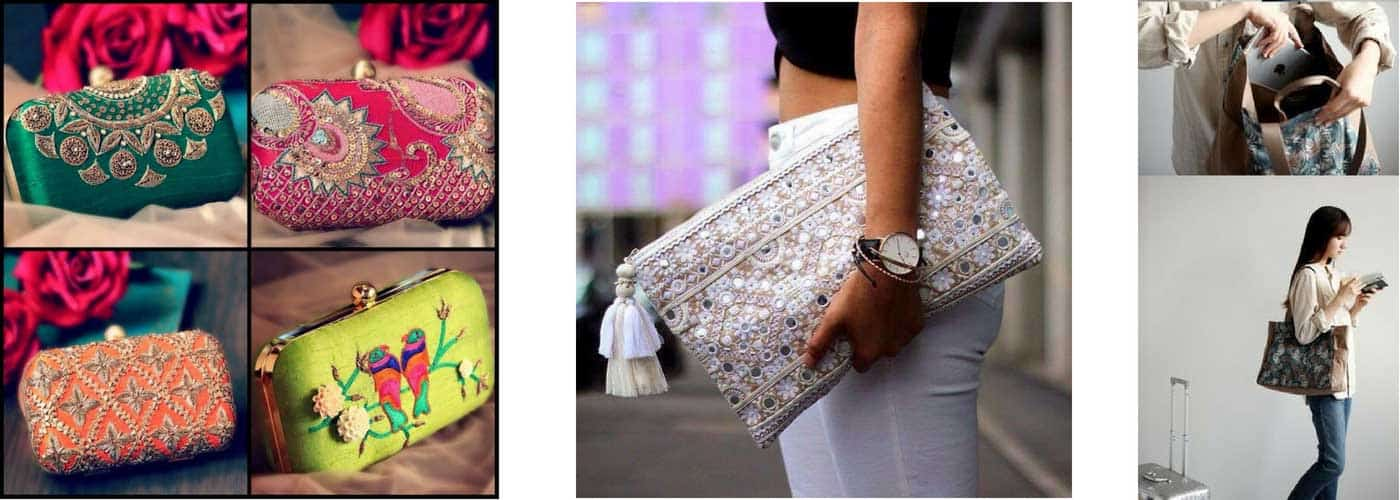 Matching Bags & Clutches for the Bridal ensemble
