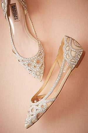 Flat shoes as part of Bridal Footwear
