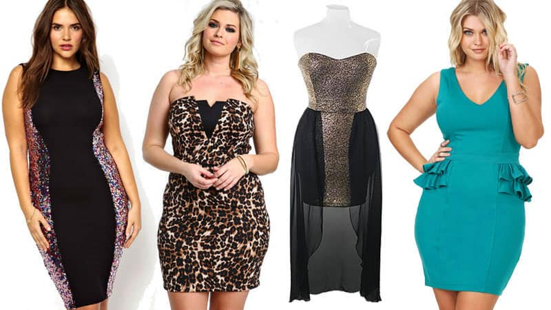 Bodycon dress examples for Plus size women