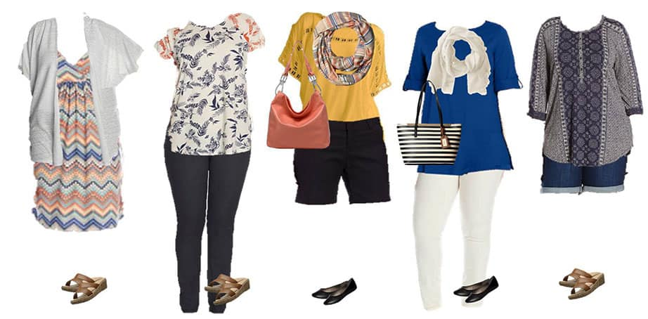 Some Mix and match clothing ideas for Plus Size Women