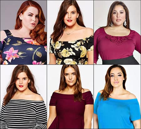 Variety of necklines that Plus Size Women can Fashionably wear