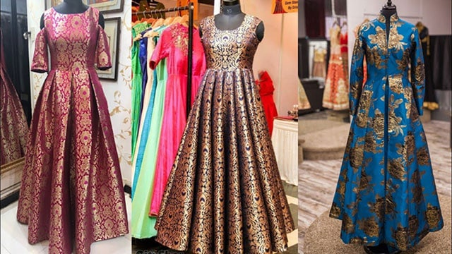 Modern Long Dresses that have been created from old fashion sarees