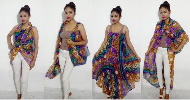 Kaftan & other beachwear dresses created out of a dupatta