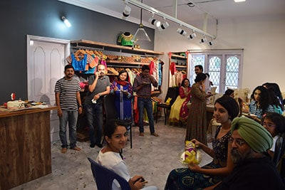 Lots of Customers turned up on the inauguration of the most popular designer boutique in bangalore*
