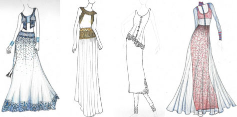 Personalized sketches for your dress designs given to customer for approval