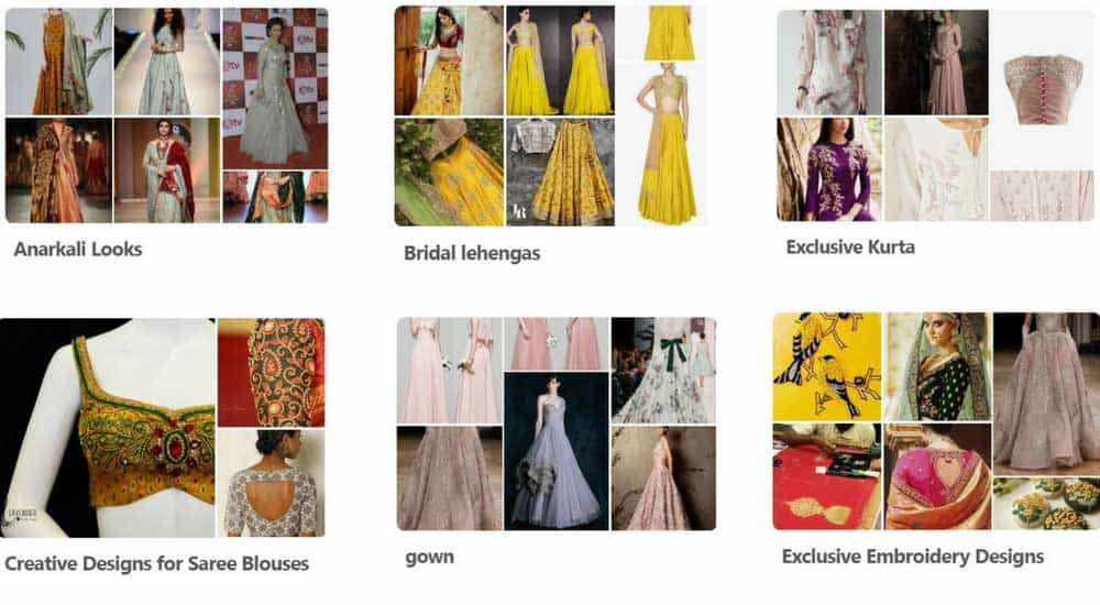 Curated collection of dress designs from across the world runs into hundreds of selections for every category