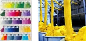 We use organic and permanent colors for dyeing the fabrics