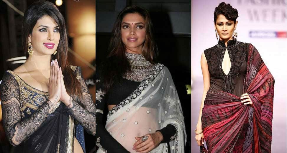 Bollywood actresses & celebrity fashion shows with perfectly fitting saree blouse