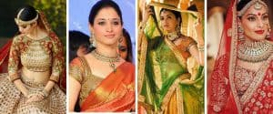 Bridal Blouse designs worn by celebrities and Bollywood actresses