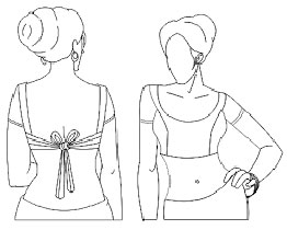 Design Sketch of a Modern Designer Blouse