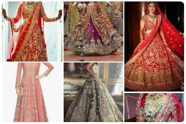 Huge collection of Wedding Lehenga Designs curated from across the world