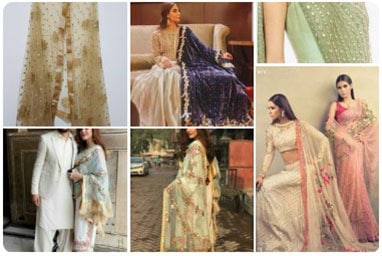 Huge selection of exclusive Dupatta Styles for Lehengas