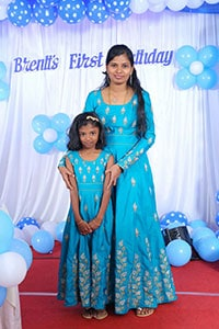 Mom and Daughter gown dresses from boutique