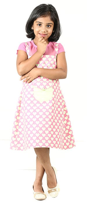 A custom made Barbie girl frock design