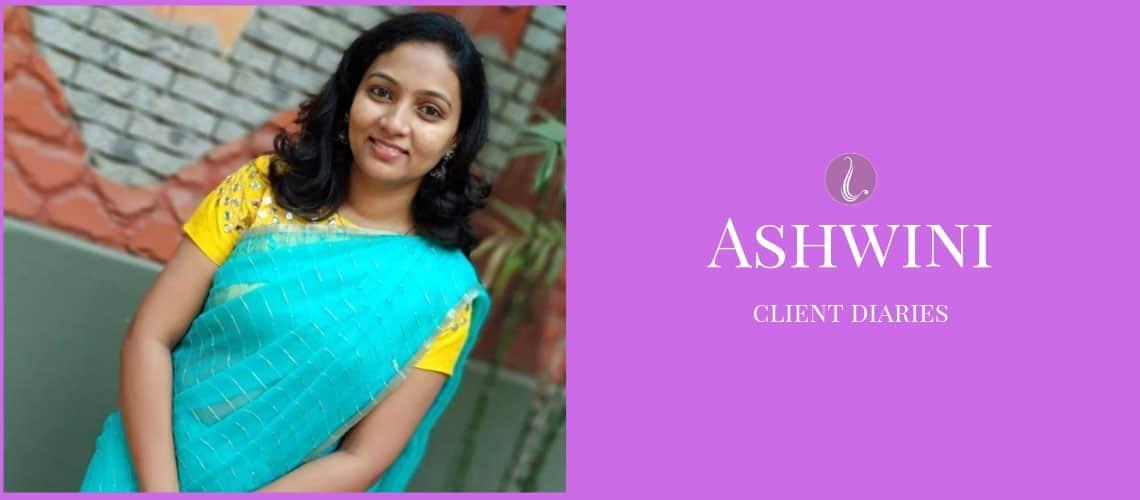 Boutique client Ashwini wearing the saree blouse designed at Lavender, The Boutique