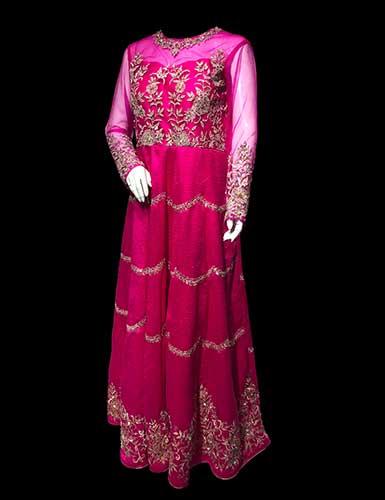 Designer Anarkali Suit styled like a Western Gown dress