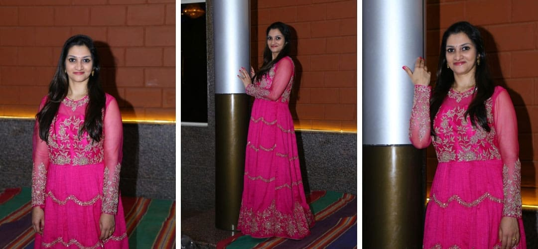 Hand Embroidered Anarkali Dress in western style gown