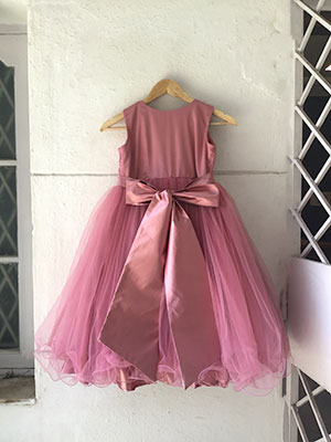 frock design with a bow knot sash
