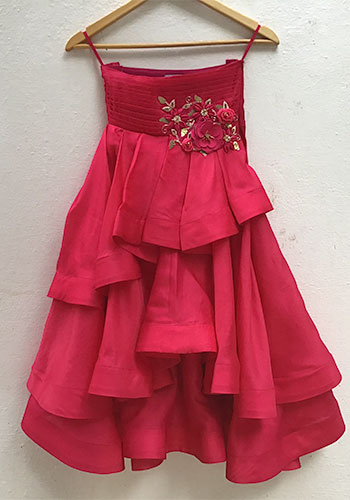red birthday party dress for kids