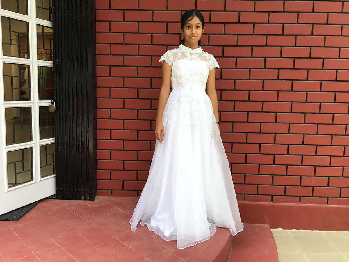 A first holy communion dress made for client at Lavender, The Boutique