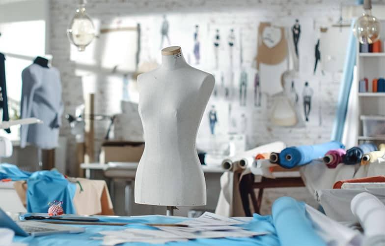 Inhouse blouse tailoring unit at the boutique