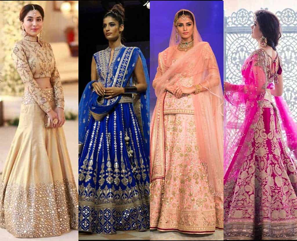 Lehenga colours and fabrics cover image